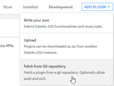 Dataiku Plugin Installation