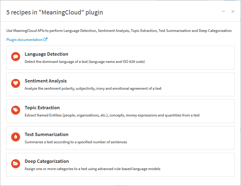 MeaningCloud Plugin Recipes Available