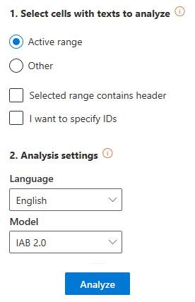 Deep Categorization user interface