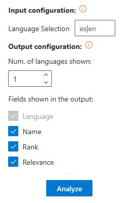 Language Identification advanced settings
