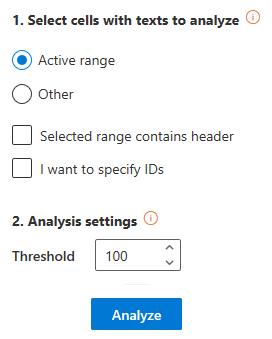 Language Identification user interface