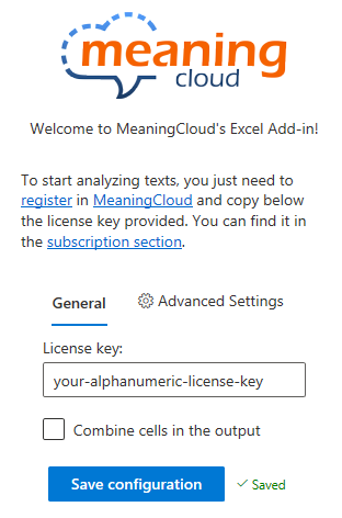 Settings section with licenses