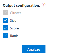 Text Clustering advanced settings