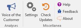 MeaningCloud VoC Add-in Ribbon