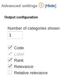 Text Classification advanced settings