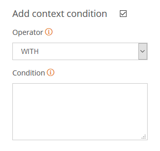 Context conditions in subentries