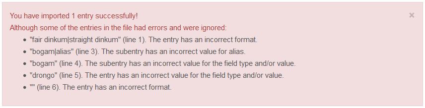 Import errors