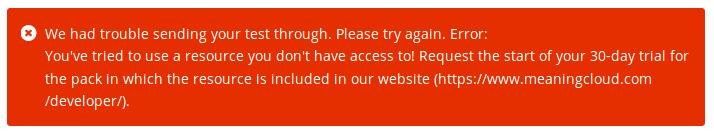 Resource access error