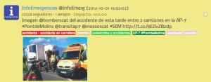 Twitter Accidente Trafico