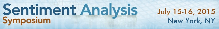 Sentiment Analysis Symposium 2015