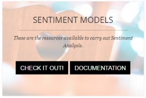 Sentiment Models button