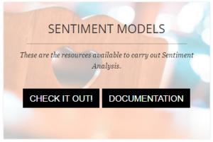 Sentiment Models button