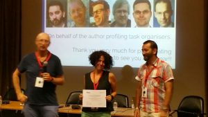 PAN16 Author Profiling Research Award - Malvina Nissim - Paolo Rosso - Francisco Rangel
