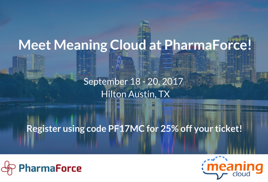 MeaningCloud sponsors PharmaForce 2017