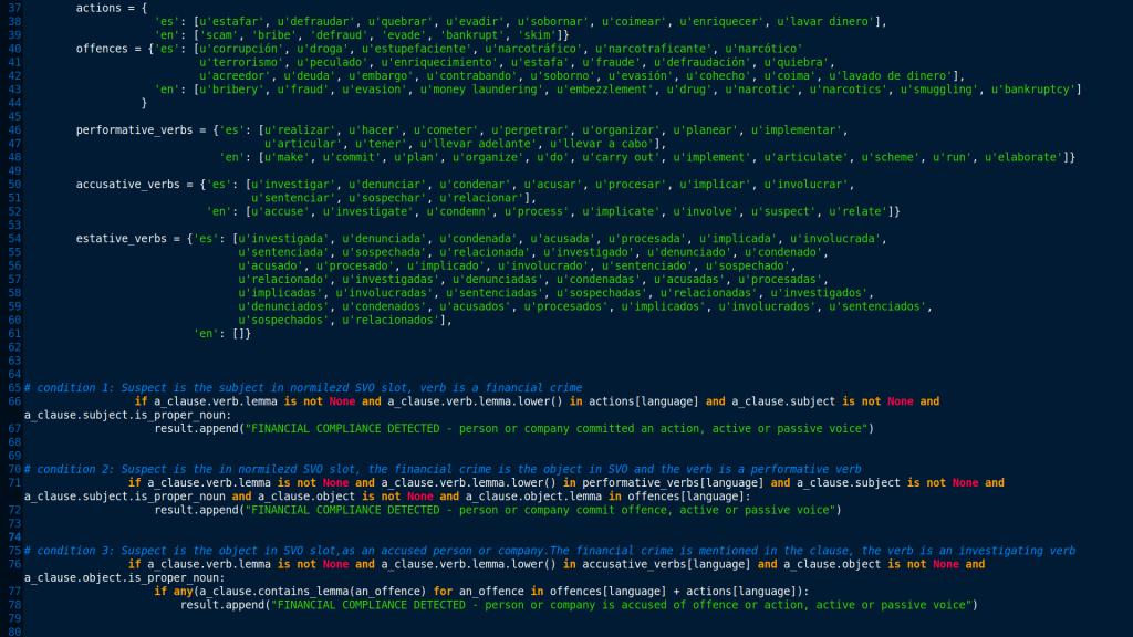 Sample code fragment