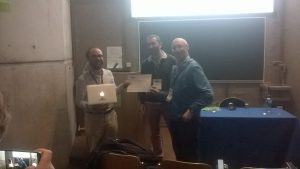 Paolo Rosso delivers the 2017 PAN Author Profiling Price to the team of University of Groningen
