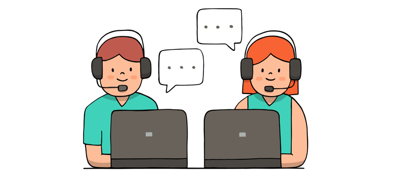 Contact center. Illustration