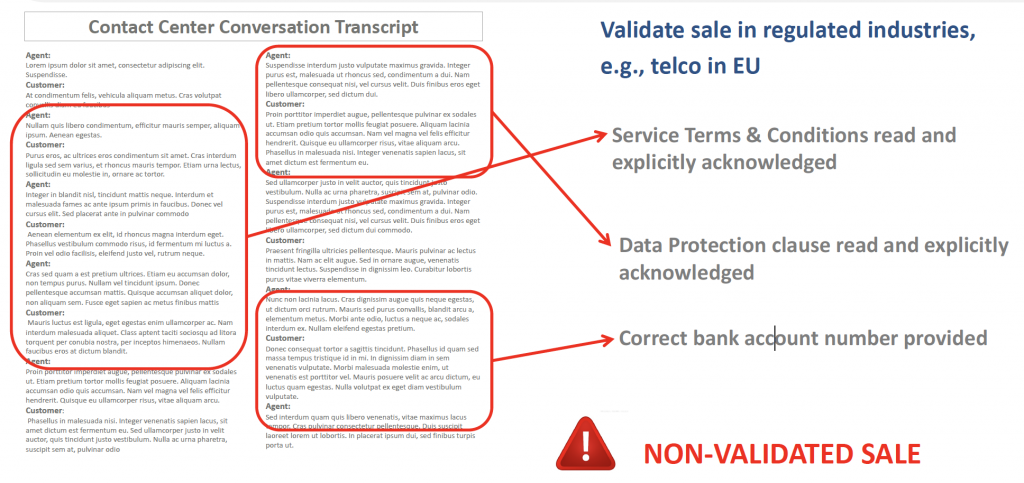 Validation of sales in highly regulated markets