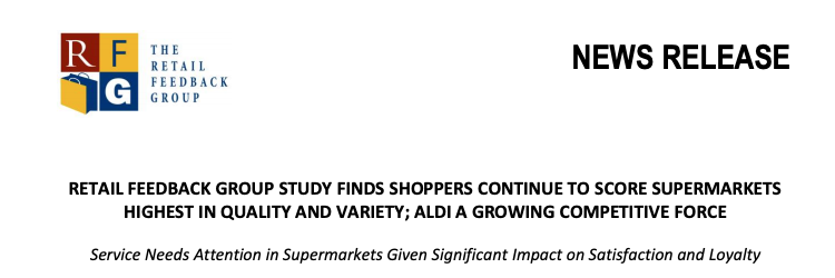 Cover of the report. The supermarket experience