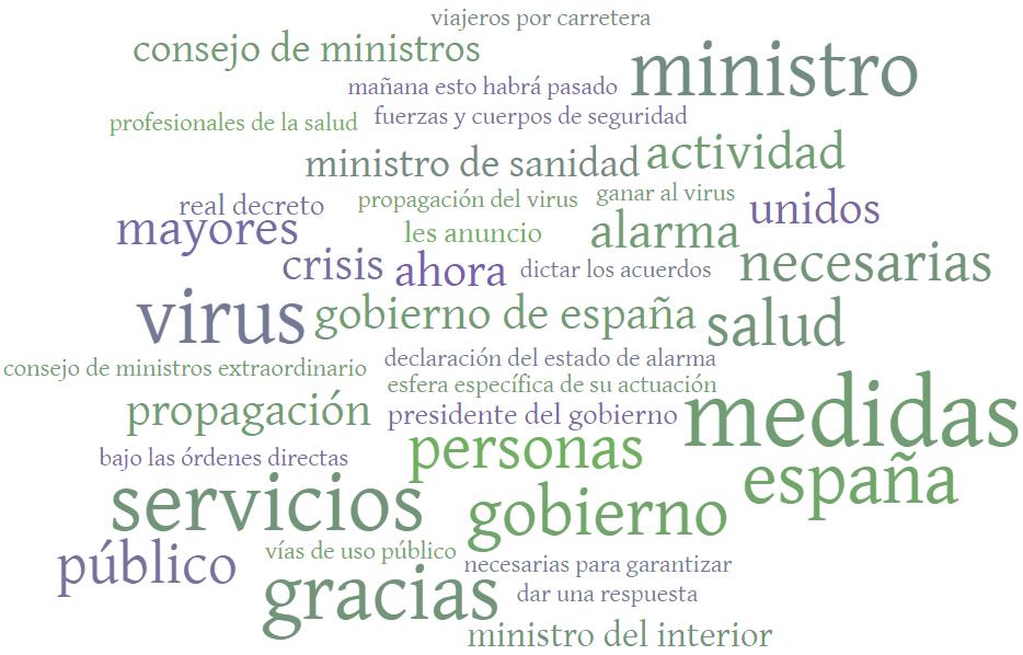 Comparecencia del presidente del Gobierno tras la declaración del estado de alarma por el Consejo de Ministros