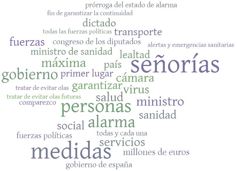 Comparecencia del presidente del Gobierno en el Congreso de los Diputados para solicitar la prórroga del Estado de Alarma