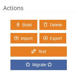 Migrate button
