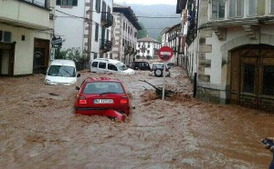 Flood in Elizondo, Navarre, 2014